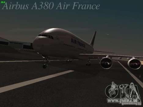 Airbus A380-800 Air France pour GTA San Andreas laissé vue