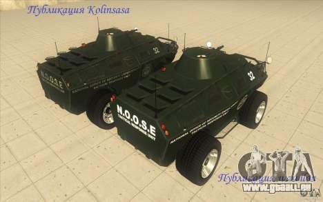 TTB de GTA 4 TBOGT Original avec Texture pour GTA San Andreas vue arrière