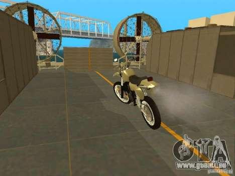Moto Čezet pour GTA San Andreas sur la vue arrière gauche