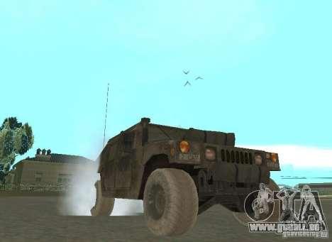 Hummer Cav 033 für GTA San Andreas Rückansicht