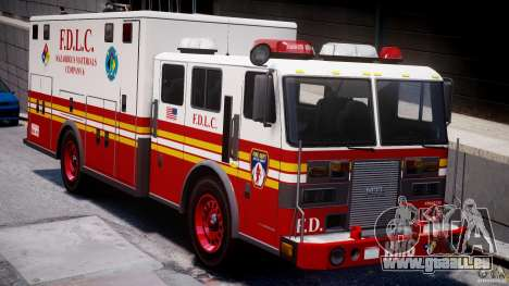 LCFD Hazmat Truck v1.3 für GTA 4 linke Ansicht