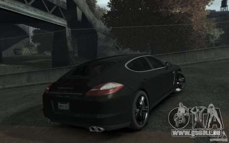 Porsche Panamera Turbo pour GTA 4 Vue arrière