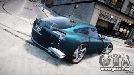 TVR Sagaris pour GTA 4 vue de dessus