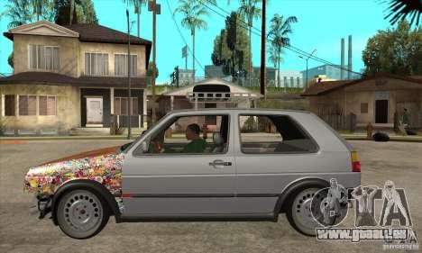VW Golf Mk2 GTI pour GTA San Andreas laissé vue