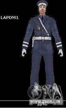 Pelliplacage remplace PD, armée et une peau du F pour GTA San Andreas deuxième écran