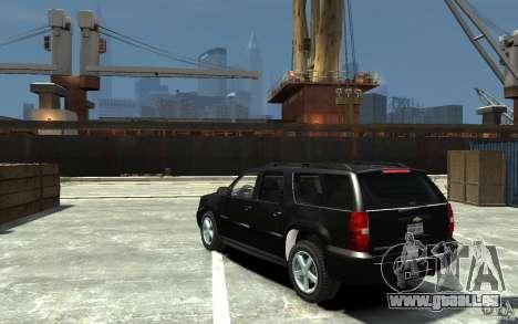 Chevrolet Suburban 2008 (beta) pour GTA 4 Vue arrière de la gauche