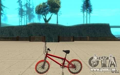 Zeros BMX RED tires pour GTA San Andreas laissé vue