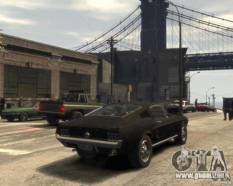 1967 Ford Mustang für GTA 4 hinten links Ansicht
