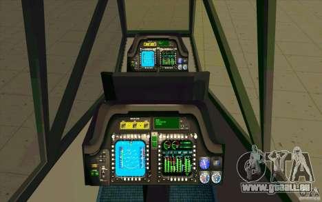Sikorsky RAH-66 Comanche default grey pour GTA San Andreas vue intérieure