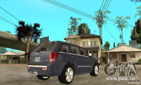 Jeep Grand Cherokee SRT8 v2.0 pour GTA San Andreas vue de droite