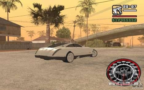 Maybach Exelero pour GTA San Andreas sur la vue arrière gauche
