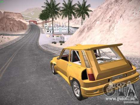 Renault 5 Turbo pour GTA San Andreas laissé vue