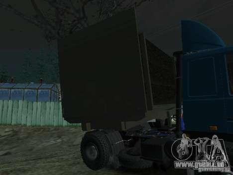 Holz Anhänger für Traktor für GTA San Andreas zurück linke Ansicht