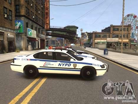 Chevrolet Impala 2003 NYPD V2.0 pour GTA 4 Vue arrière de la gauche