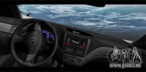 Subaru Forester RRT sport 2008 pour GTA San Andreas vue de dessous