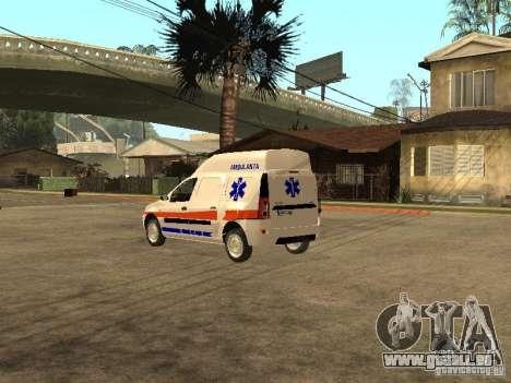 Dacia Logan Ambulanta pour GTA San Andreas sur la vue arrière gauche