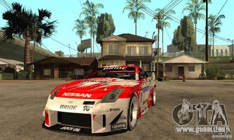 Nissan 350Z Xanavi pour GTA San Andreas vue arrière