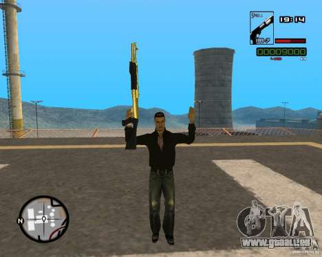 Shotgun Gold für GTA San Andreas zweiten Screenshot