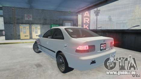 Honda Civic Si 1999 JDM [EPM] pour GTA 4 est une gauche