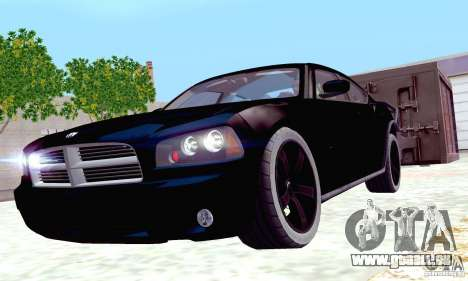 Dodge Charger Fast Five für GTA San Andreas obere Ansicht