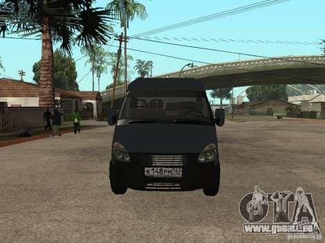 Business Gazelle 2705 pour GTA San Andreas laissé vue