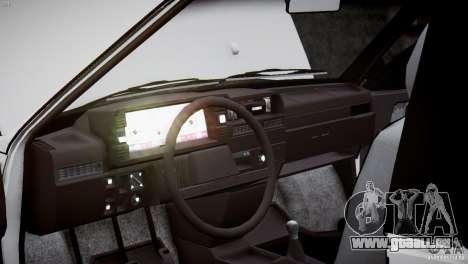 VAZ 21083i pour GTA 4 est une vue de dessous