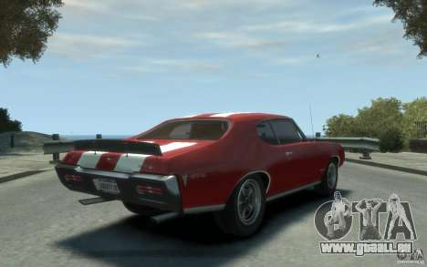 Pontiac GTO Hardtop 1968 v1 pour GTA 4 est un droit