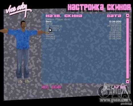 4 Skins et modèle pour le quatrième écran GTA Vice City