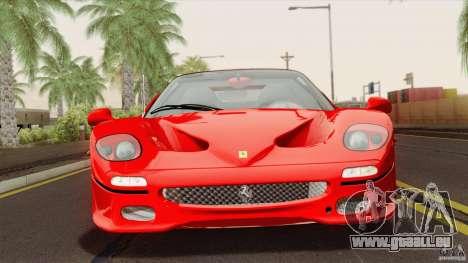 Ferrari F50 v1.0.0 Road Version pour GTA San Andreas vue de droite