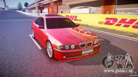 BMW 530I E39 stock chrome wheels für GTA 4 Rückansicht