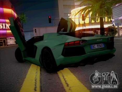 Lamborghini Aventador LP700-4 Roadstar pour GTA San Andreas vue intérieure