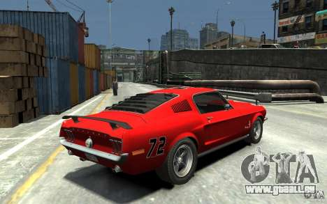 Ford Mustang Fastback 302did Cruise O Matic pour GTA 4 est un droit