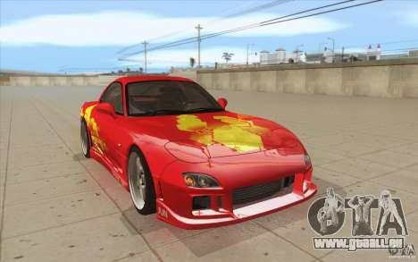 Mazda RX-7 - FnF2 pour GTA San Andreas vue arrière