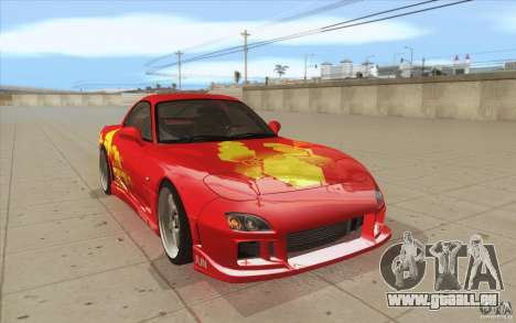 Mazda RX-7 - FnF2 für GTA San Andreas Rückansicht