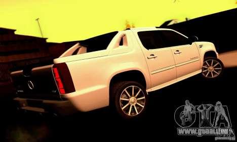 Cadillac Escalade Ext pour GTA San Andreas sur la vue arrière gauche