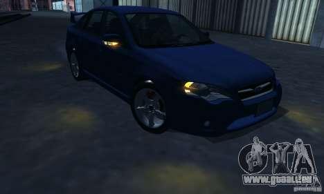 Subaru Legacy 2004 v1.0 pour GTA San Andreas vue de dessous
