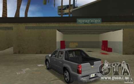 Chevrolet Avalanche 2007 für GTA Vice City zurück linke Ansicht