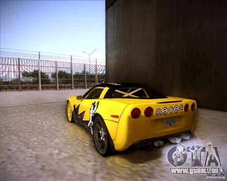 Chevrolet Corvette C6 super promotion für GTA San Andreas linke Ansicht