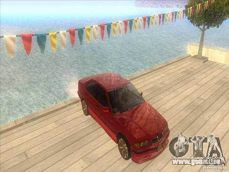 BMW E36 pour GTA San Andreas vue de dessus
