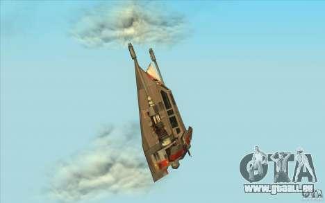 T-47 Snowspeeder pour GTA San Andreas sur la vue arrière gauche