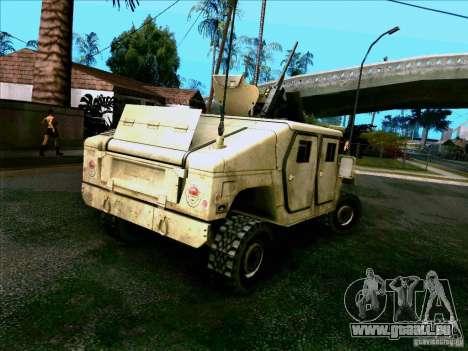 Hummer H1 Irak für GTA San Andreas zurück linke Ansicht