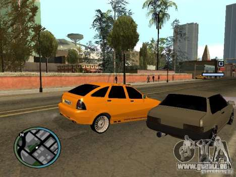 Lada Priora DagStailing für GTA San Andreas zurück linke Ansicht