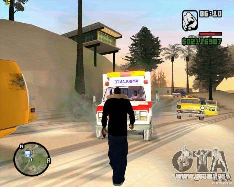 Ambulance pour GTA San Andreas troisième écran