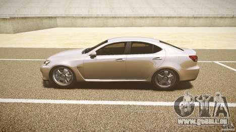 Lexus IS F pour GTA 4 Vue arrière de la gauche