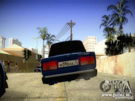 VAZ-2107 für GTA San Andreas zurück linke Ansicht