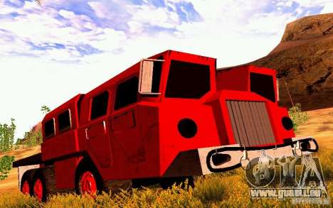 MAZ-7310 civile Version étroite pour GTA San Andreas laissé vue