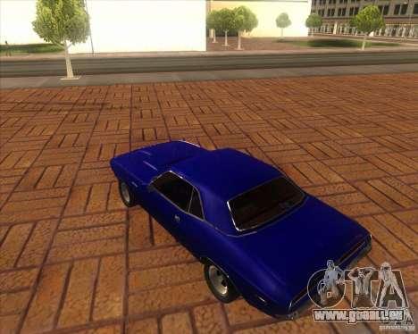 Dodge Challenger RT Hemi für GTA San Andreas zurück linke Ansicht