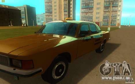 GAZ Volga 3102 Taxi pour GTA San Andreas laissé vue