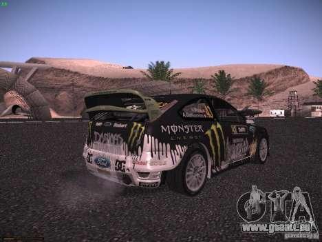 Ford Focus RS Monster Energy pour GTA San Andreas sur la vue arrière gauche