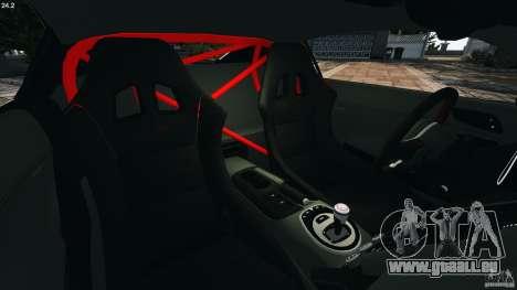 Audi R8 GT 2012 pour GTA 4 est une vue de l'intérieur
